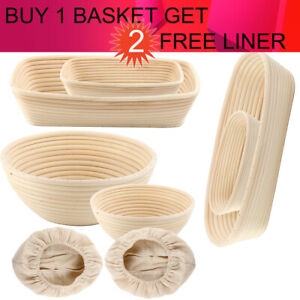 Round Oval Rectangle Sourdough Bannetons Bread Proofing Basket Bread Baking Mold