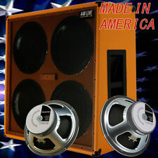 4x12 Guitar Speaker Extension Cabinet w/G12K100 Celestion Speakers Orange tolex