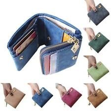 Women Clutch Checkbook Change Coin Bag Purse Mini Ladies Handbag Trifold Wallet