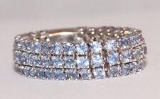 Flexible 'Fiorella' 18ct White Gold Sapphire Band Ring Size O