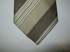 BOYS SILK Tie Necktie 49 x 3 green blue white striped 14213