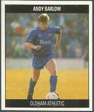 ORBIS 1990 FOOTBALL COLLECTION-#F009-OLDHAM ATHLETIC-ANDY BARLOW