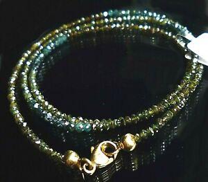 topmk-schmuck Collier, 585/14kt, DIAMANT MULTICOLOR, ca. 13 ct, diamond necklace