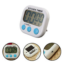 LCD Digital Kitchen Cooking Loud Alarm Magnetic Large Timer Count-Down Up Clock