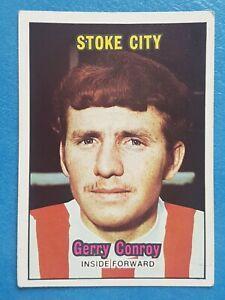 A & BC Football Card 1970. Gerry Conroy Stoke City Orange Back No. 62