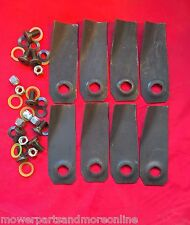 4pr Husqvarna / Flymo / Weedeater 19 Inch Lawn Mower Blade and Bolt Set - 288151