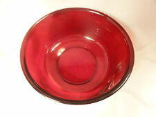 Arcoroc Red Glass Center Bowl France 8.5 inch W