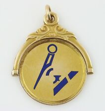 RARE Vintage Antique MASONIC Spinner FOB Pendant Secret Freemason Logo