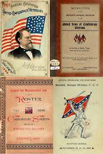 105 Rare Old Books On The American Civil War United Confederate Veterans On Dvd