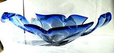 Grosse MURANO Glas Schale Zipfelschale Venetian Glass Mid-Century 50/60er Jahre