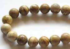 40pcs 10mm Round Natural Gemstone Beads - Picture Jasper