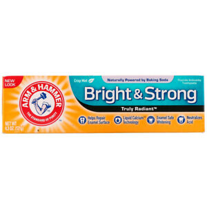 ARM & HAMMER BRIGHT STRONG ENAMEL DEFENSE TOOTHPASTE,MINT, NO ANIMAL TESTING