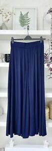 MONSOON gorgeous navy flared maxi skirt! L, Uk16 Tall