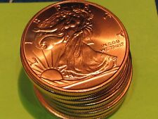 Walking Liberty UNC  PROOF 1 oz .999 pure copper..combine shipping save $$$