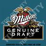 MILLER DRAFT BEER DECAL STICKER FOR BAR FRIDGE COOLER MANCAVE SHED CAR