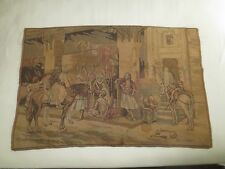 """Vintage OLD WORLD MARKETPLACE TAPESTRY Runner or Wall Hanging - 37"""" x 25 1/2"""""""
