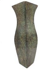 Antique Vintage Solid Bronze Brass Metal Reptile Snakeskin Flower Vase Sankey
