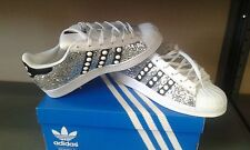 Shoes adidas Superstar With Silver Glitter And Studs White