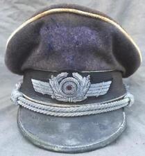 German WW2 Luftwaffe Air Force officer cap hat