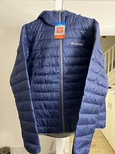 Columbia Padded Jacket Men Size L, Blue With Tag