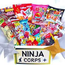 Japanese Dagashi Sweets Set Chocolate Snacks Gummy 20pcs & Free NINJA STARS