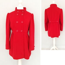 George Red Coat 18 High Neck Button Pockets Long Sleeve Military Winter Jacket