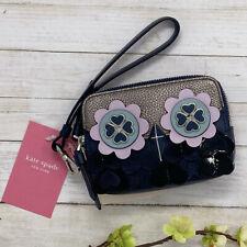 NEW Kate Spade Zibbi Small Camera Wristlet Nightcap Navy Owl Double Zip Wallet