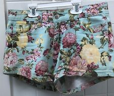 Paper Heart Size 12 Blue Floral Casual Shorts Stretch Summer EUC