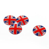 4x Wheel Center Hub Cap Emblem Badge decal Union Jack UK Flag For Mini Cooper