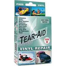 TEAR-AID Type B Vinyl Repair Patch Kit #72020031 Airtight Watertight Transparent