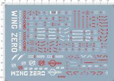 Precision Scale Detail Up 1/100 Wing Zero xxxg-00w0 EW Gundam MG Model Kit Decal