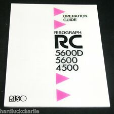 RISO RISOGRAPH RC 5600D 5600 450 OPERATION GUIDE 59 pages Original