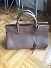 Yves Saint Laurent Paris Birch Rive Gauche Small Handbag Leather