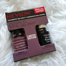 New REVLON Colorstay Gel Envy Longwear Nail Enamel Base & Top Coat #720 Hold 'Em