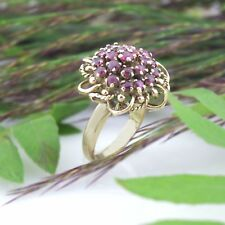 14k Yellow Gold Estate Ruby Cocktail Ring Size 5.5