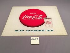 1963 Enjoy Coca-Cola w Ice Things Go Better With Coke Sign Light VINTAGE CC13