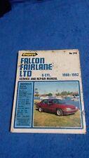 Falcon, Fairlane & LTD 88-92 Service & Repair Manual