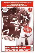 Savage Man Savage Beast Poster 01 Metal Sign A4 12x8 Aluminium