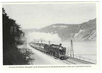 """AK, Blockstelle Rheinstein, Gleise, Lok, S 3/6 18 537, """"Rheingold"""", alte Autos,"""