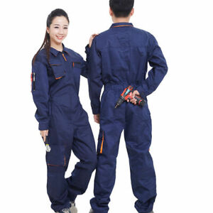 Men women Workwear Coverall Overall Tuff Work Uniform Boilersuit Hooded Jumpsuit
