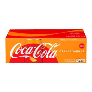 Coca-Cola Limited Edition Coke Orange Vanilla Soda,USA 12 fl oz,(JAN 31,2022)