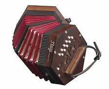 NEW Stagi M3 Wood Anglo Concertina M 20 Button Made in Italy Carrying Sack