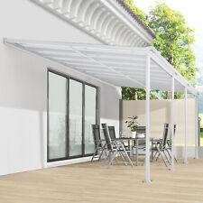 Terrassendach Terrassenüberdachung Vordach 6x3m Überdachung Aluminium Juskys®