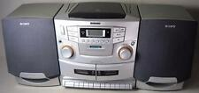 Sony CD FM/AM Radio Cassette Recorder Player Boombox CFD-ZW755 - VG Cond!