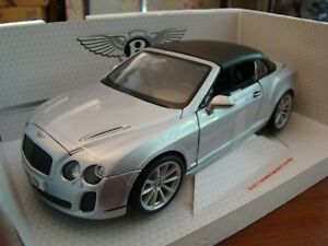 1/18 Bentley Continental Supersports 6.0 Litre W12 Convertible 2010 Rare