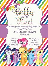 Printable Custom Invitation Inspired By My Little Pony Rainbow
