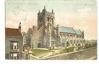 Vintage Postcard St Hilda's Church Hartlepool County Durham posted 1916
