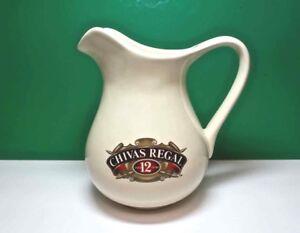 CHIVAS REGAL Ceramic WATER JUG PITCHER Aged 12 Years Scotch Whiskey Bar Ware