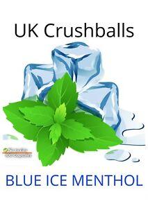 100 BLUE ICE MENTOLL/MINNTT flavour Crushball Capsuless, UK Seller, FREE P&P