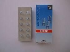 50 pezzi lampada OSRAM 12v 3w w2.1 x 9.5d vetro Socket w3w Socket vetro Lampada 2821